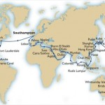 QE2 Cunard Queen Elizabeth World cruise 2014 itinerary map