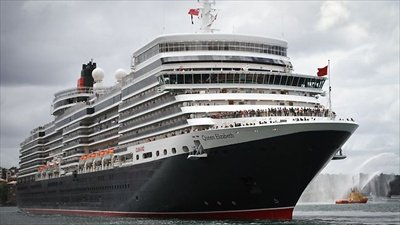 Cunard Queen Elizabeth cruises on the new QE2 cruise ship