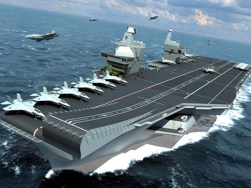 R 08 Queen Elizabeth aircraft carrier