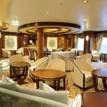 Cunard Queen Elizabeth ship Cafe Carinthia