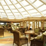 Cunard Queen Elizabeth ship Garden Lounge