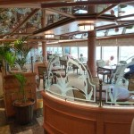 Cunard Queen Elizabeth ship Lido Restaurant