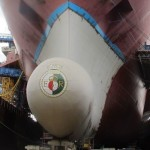 HMS Queen Elizabeth aircraft carrier bulbous bow