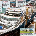 Cunard Queen Elizabeth cruise ship deck plans infographic - location of venues on board
