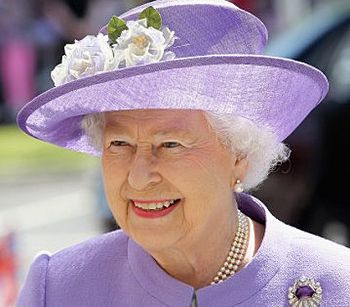 HMS Queen Elizabeth's Godmother - Her Majesty The Queen of England